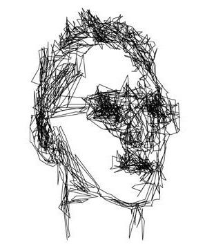 Портрет, нарисованный «силой мысли» Джошема Хендрикса.