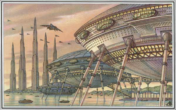 Дома-амфибии. Архитектурная фантастика Артура Скижали-Вейса