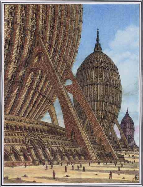 Загадочные сооружения в пустыне. Архитектурная фантастика Артура Скижали-Вейса