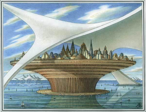 Океанские просторы будущего. Архитектурная фантастика Артура Скижали-Вейса