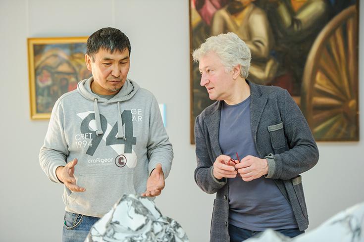 Ербосын Мельдибеков и Виктор Мизиано