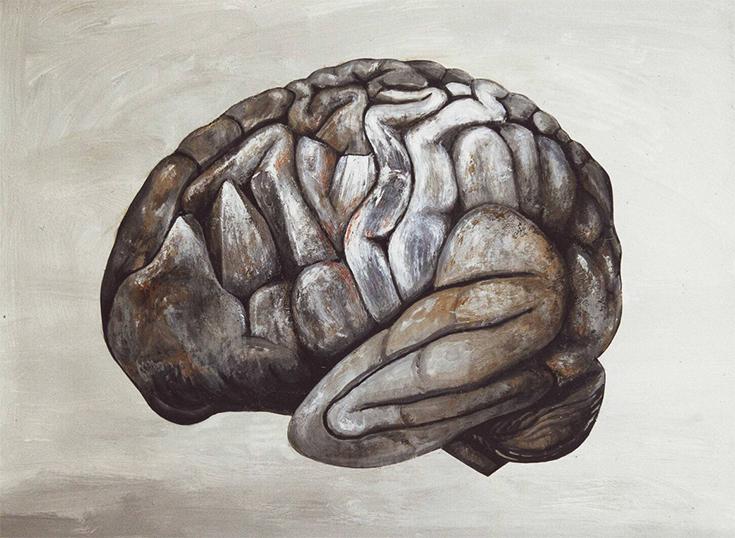 Жюльет Влес, Мозг-камень, живопись. Франция