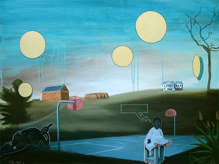 """Рональд Холл """"Баскетбольный дневник"""", живопись, США"""