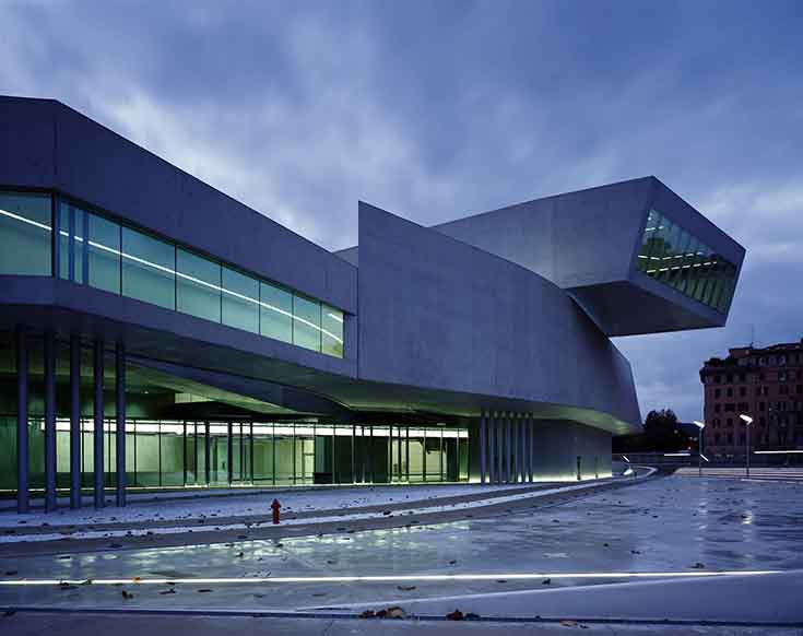 Музей искусства XXI века MAXXI в Риме, Zaha Hadid Architects, 2010