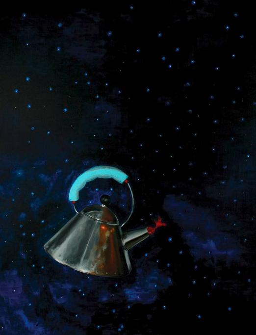 Рене Бахрах Кристофик «Чайник в космосе», живопись. Хорватия