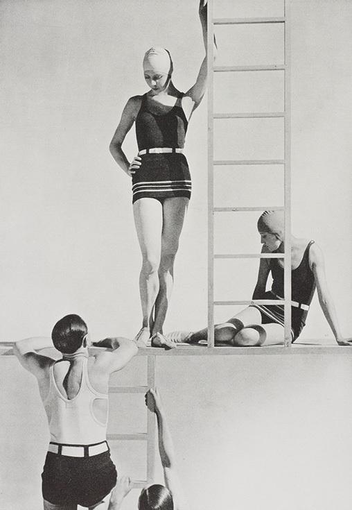 Георгий Гойнинген-Гюне. Модели в купальных костюмах из джерси, 1929