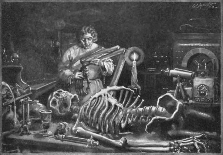 Франкенштейн в своей лаборатории