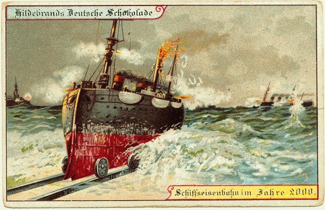 Футуристические открытки Hildebrands 1900 года
