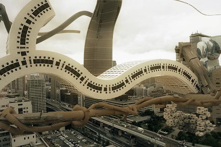 Медитативный японский видеоарт на тему архитектуры будущего