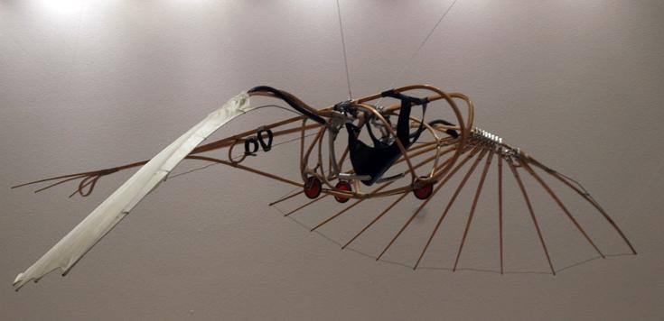 Реконструкция «Летатлина» в Музее современного искусства в Стокгольме