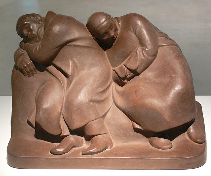 Эрнст Барлах, Спящая крестьянская пара, 1912