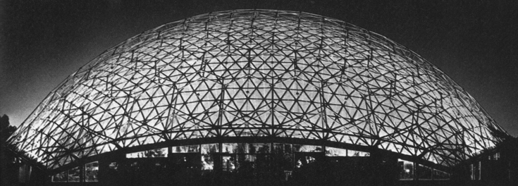 "Купол ""Климатрон"" в Сент-Луисе в Миссури, 1960 год."
