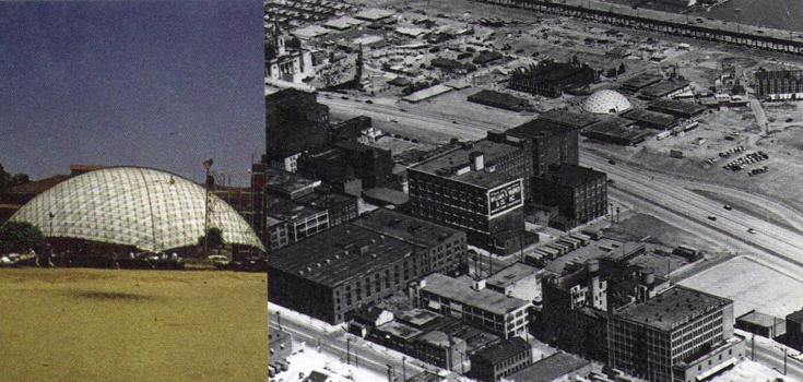 Павильон Calico Cotton в Бомбее (1958), Выставочный павильон в Сент-Луисе, Миссури (1956).