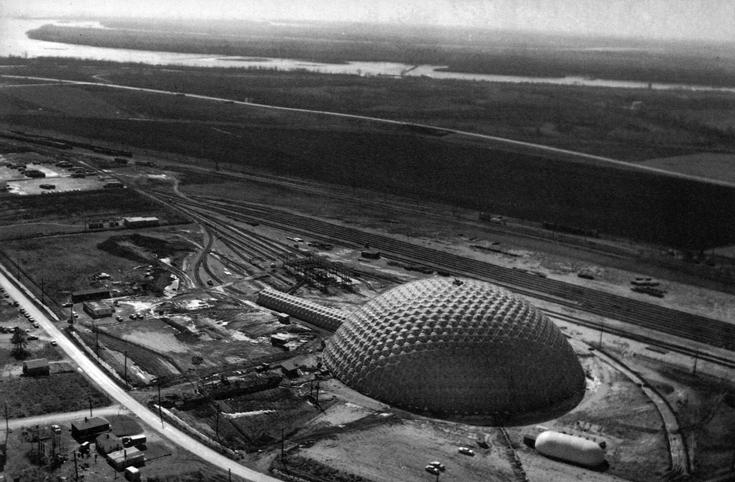 """Spruce Goose Hangar - купол для фанерного аэроплана Говарда Хьюза """"Spruce Goose"""". Лонг Бич, 1976"""
