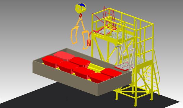 Машиностроительный проект «Схема укладки слитков меди в автотранспорт», выполненный в Autodesk Inventor. Проект Михаила Купара из Кировграда