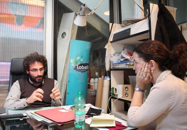 Бэкстейдж интервью: Мауро дель Санто в своей студии и Дженнет Атаева