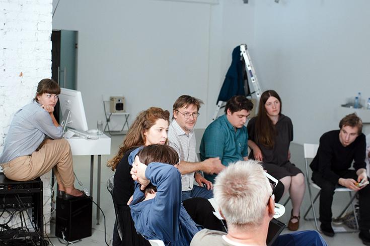 Встреча художников и учёных в лабораториях нейронаук Курчатовского института, 2011
