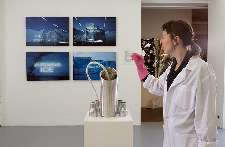 """::vtol:: Криофон, 2014, интерактивная звуковая инсталляция для проекта """"Лаборатория льда"""""""