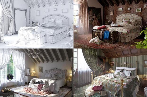 Визуализация спальни в разных стилях - Иосиф Четвераков