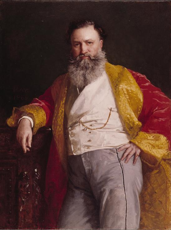 Портрет Исаака Зингера, Эдвард Гаррисон Мэй, 1869