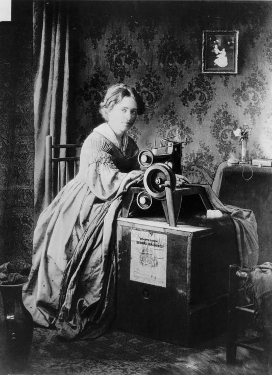 Реклама швейной машинки, 1851 год
