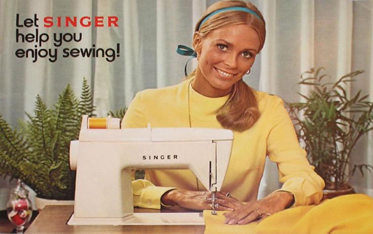Реклама швейных машинок Singer, 1970