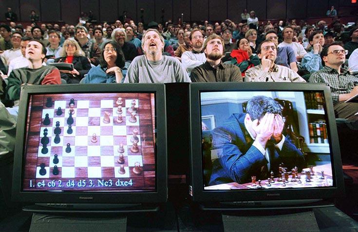Победа компьютера Deep Blue над Гарри Каспаровым в шахматы в 1997 году