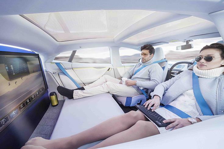 Пассажиры беспилотного автомобиля