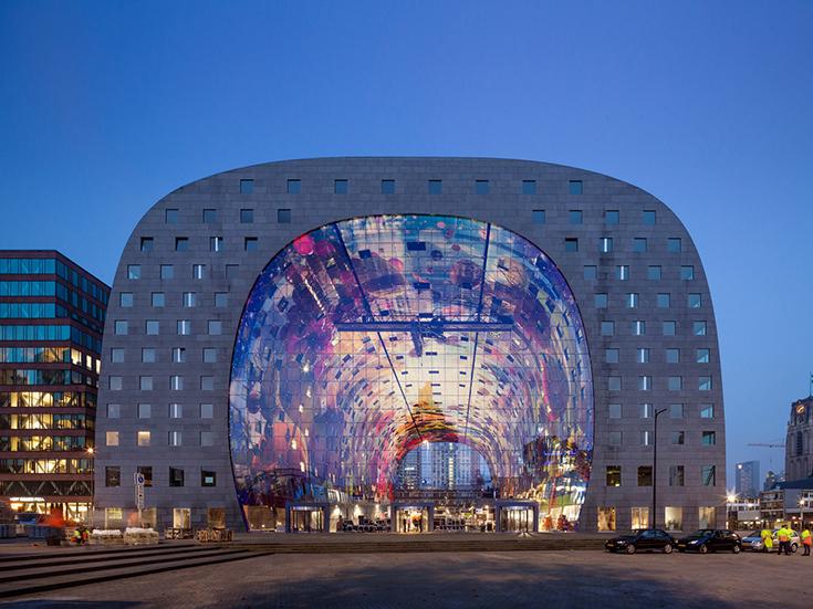 Рынок в Роттердаме, Нидерланды. Архитектурное бюро MVRDV