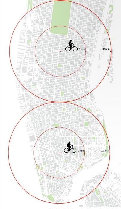 Фрагмент исследования Яна Гейла для комитета по транспорту Нью-Йорка