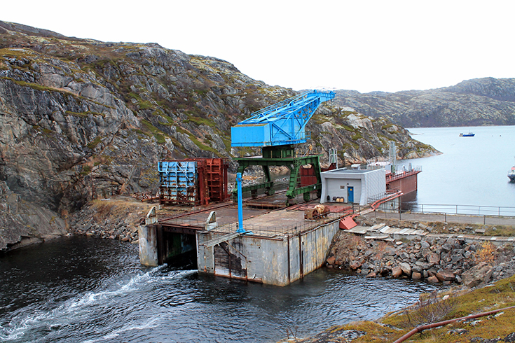 Кислогубская приливная электростанция в Мурманской области в России