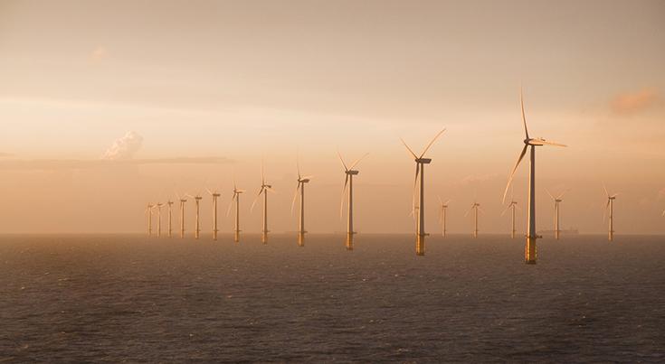 Ветряные электростанции в графстве Кент в Англии
