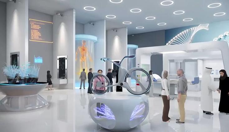 Визуализация интерьера Музея будущего в Дубае