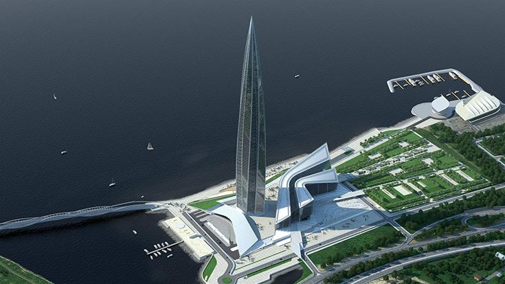 Проект Лахта-центра в Санкт-Петербурге