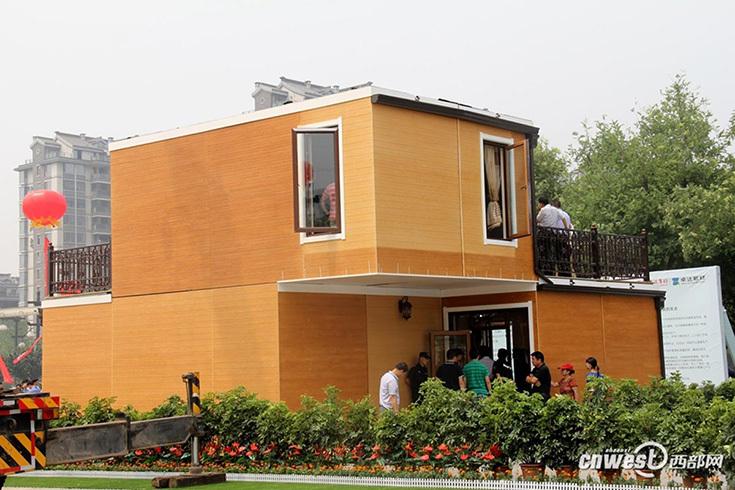 Двухэтажная вилла в Китае, построенная с применением 3D-печати