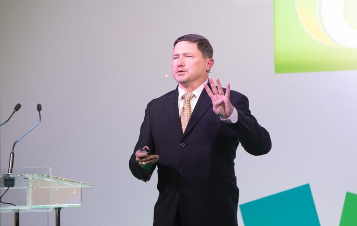 Вице-президент Autodesk Каллан Карпентер на Autodesk University в Москве