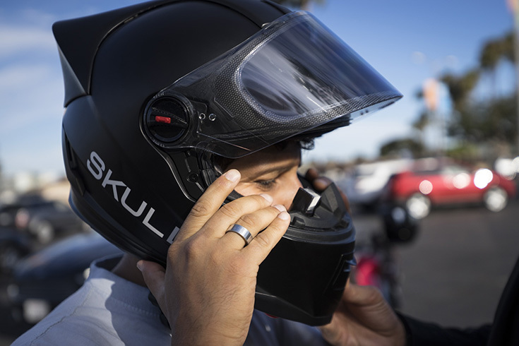 Мотоциклетный шлем Skully AR-1