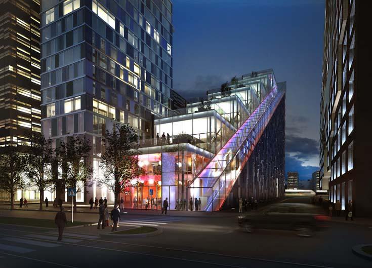 Здание банка DNB Nor в виде огромной лестницы, Dark Architects