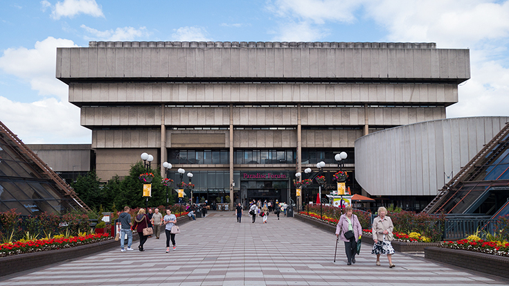 Здание Центральной библиотеки в Бирмингеме, 1974. Снесено в 2015 году