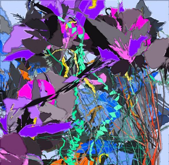 Абстрактная композиция программы AARON