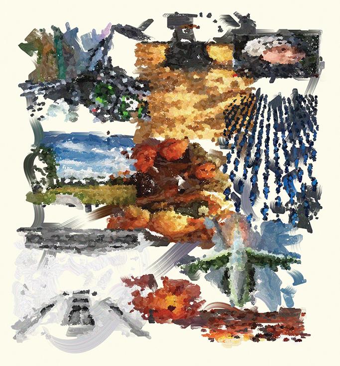 Коллаж на тему войны в Афганистане, созданный программой The Painting Fool