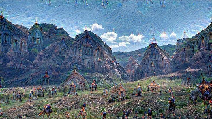 Пейзаж, созданный программой Google Brain AI