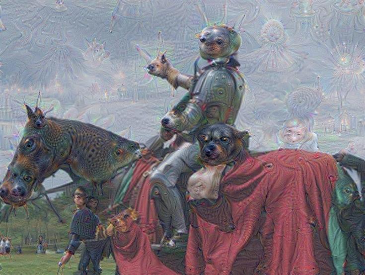 Изображение, созданное программой Google Brain AI