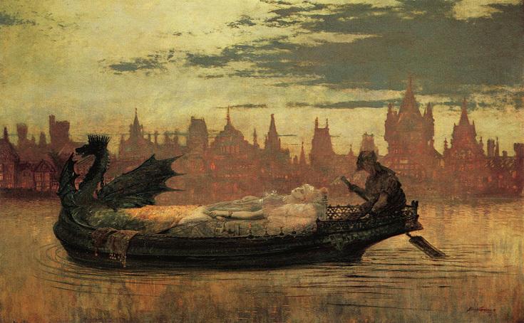 """Джон Эткинсон Гримшоу """"Элейн"""", 1877"""