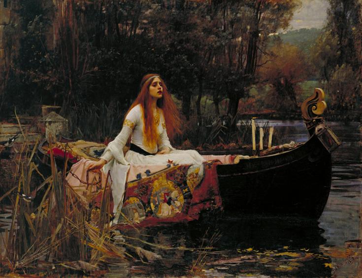 """Джон Уильям Уотерхаус """"Леди Шалотт"""", 1888"""