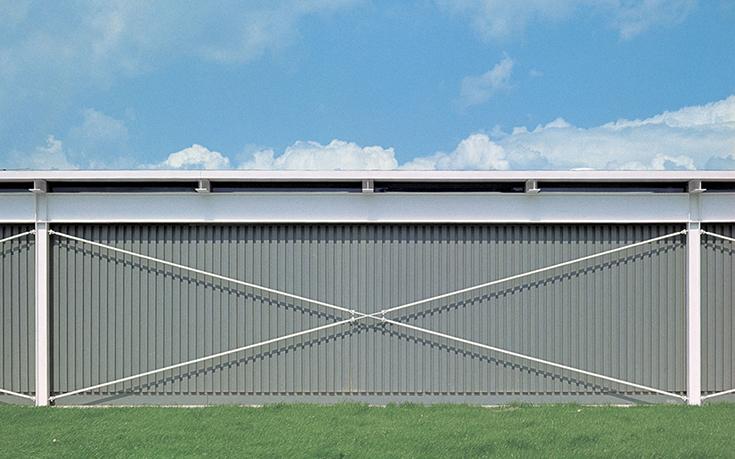 Стена здания фабрики Reliance Controls