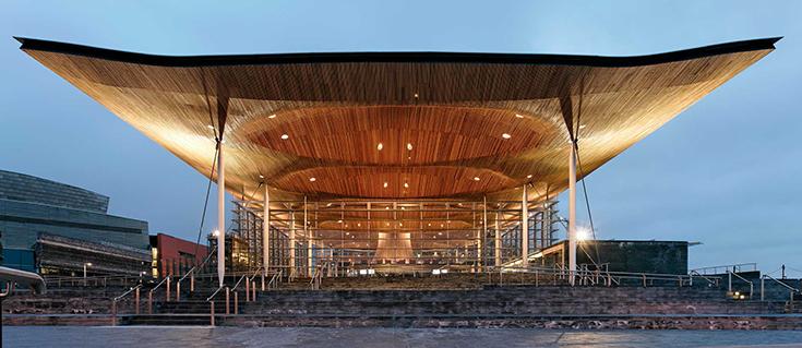 Здание Национальной ассамблеи Уэльса (Senedd). Ричард Роджерс, 2006
