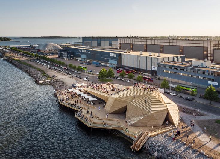 Публичная сауна Loyly в Хельсинки