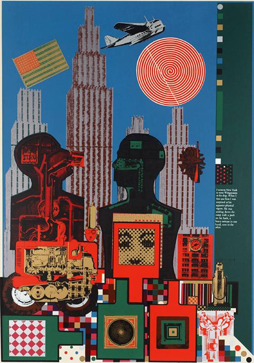 """Витгенштейн в Нью-Йорке"" - Эдуардо Паолоцци, 1965"