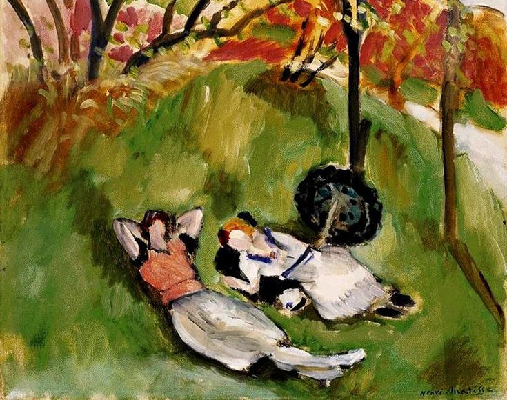 "Анри Матисс ""Две фигуры под деревом"" 1921"
